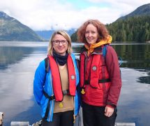 Project leader Ann-Magnhild Solås and scientist Ingrid Kvalvik in British Columbia, Canada, to learn how different stakeholders' views are implemented in coastal zone plans.