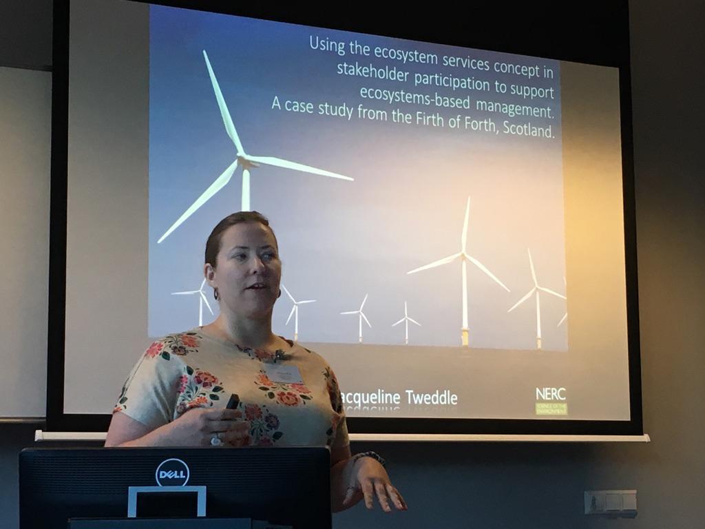 Jacqueline Tweddle fortalte om hvordan økosystem-perspektivet brukes i Skottland.